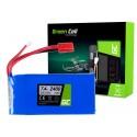Bateria Akumulator Green Cell do Syma X8C X8G X8HC X8HG X8HW X8W 7.4V 2400mAh