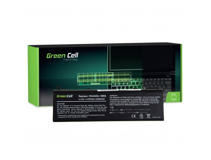 Bateria Green Cell PA3420U-1BRS PA3450U-1BRS do Toshiba Satellite L10 L20 L30