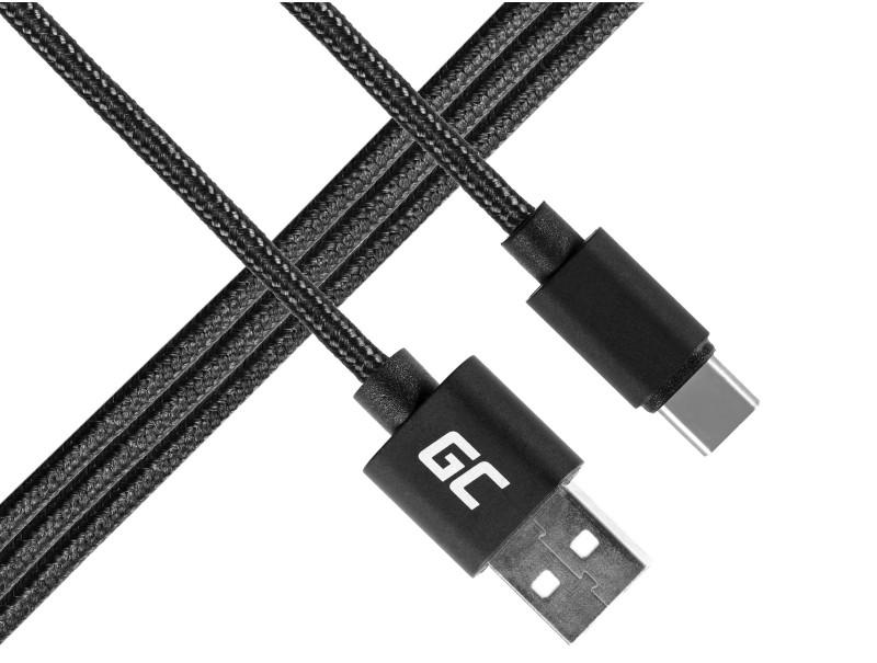 Kabel Draht Green Cell USB-C Nylon 1m