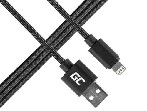 Kabel Draht Green Cell Lightning-USB für Apple iPhone Nylon 1m