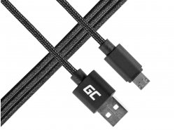 Green Cell ® microUSB  cable Nylon 1m