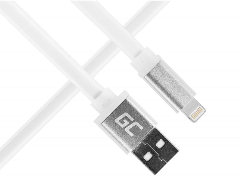 Kabel Draht Green Cell ® Lightning-USB für Apple iPhone Wohnung 25cm