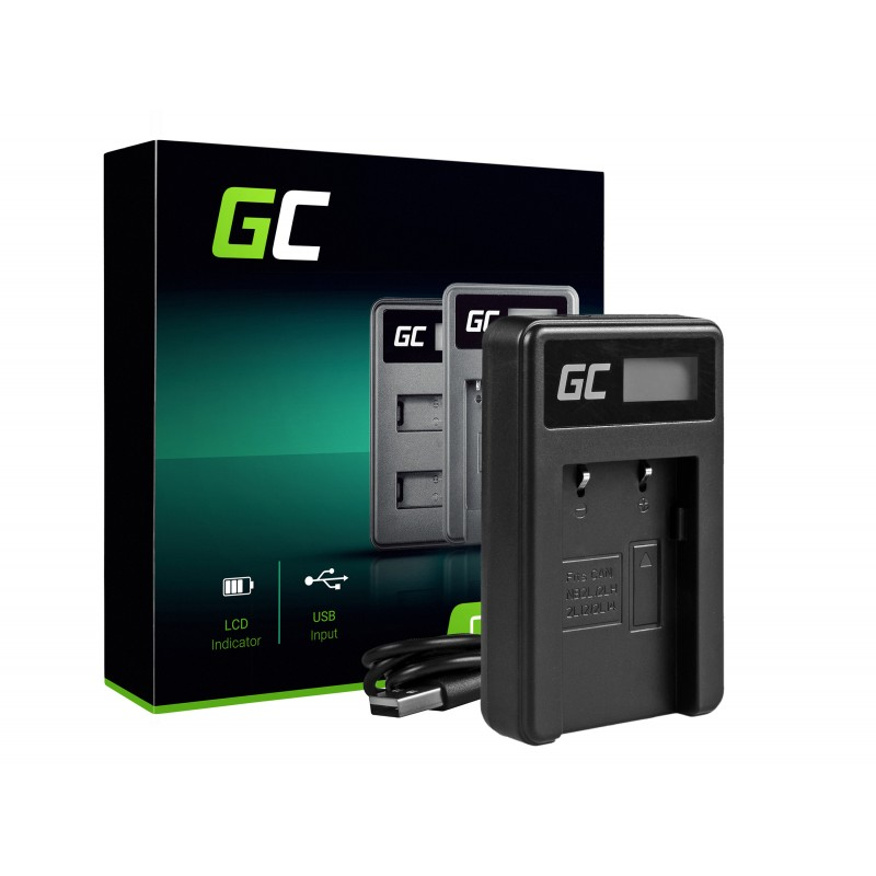 Camera Battery Charger CB-2LW Green Cell ® for Canon NB-6L/6LH, PowerShot SX510 HS, SX520 HS, SX530 HS, SX600 HS, SX700 HS