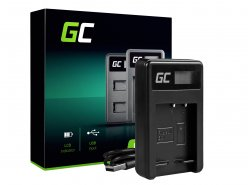 Camera Battery Charger BC-CSG Green Cell ® for Sony NP-BG1/NP-FG1, DSC H10, H20, H50, HX5, HX10, T50, W50, W70