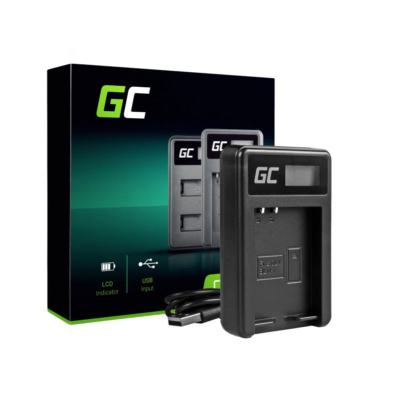 Camera Battery Charger BCN-1 Green Cell ® for Olympus BLN-1/BCN-1, PEN-F, OM-D EM1, EM5, OM-D E-M5 Mark II