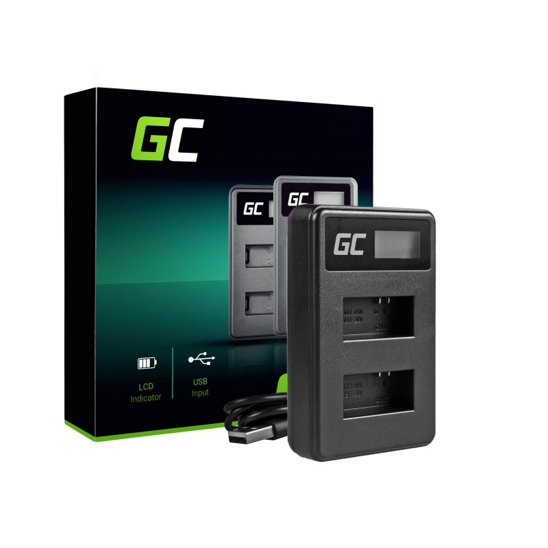 Camera Battery Charger AHBBP-401 Green Cell ® for GoPro AHDBT-401, HD Hero4