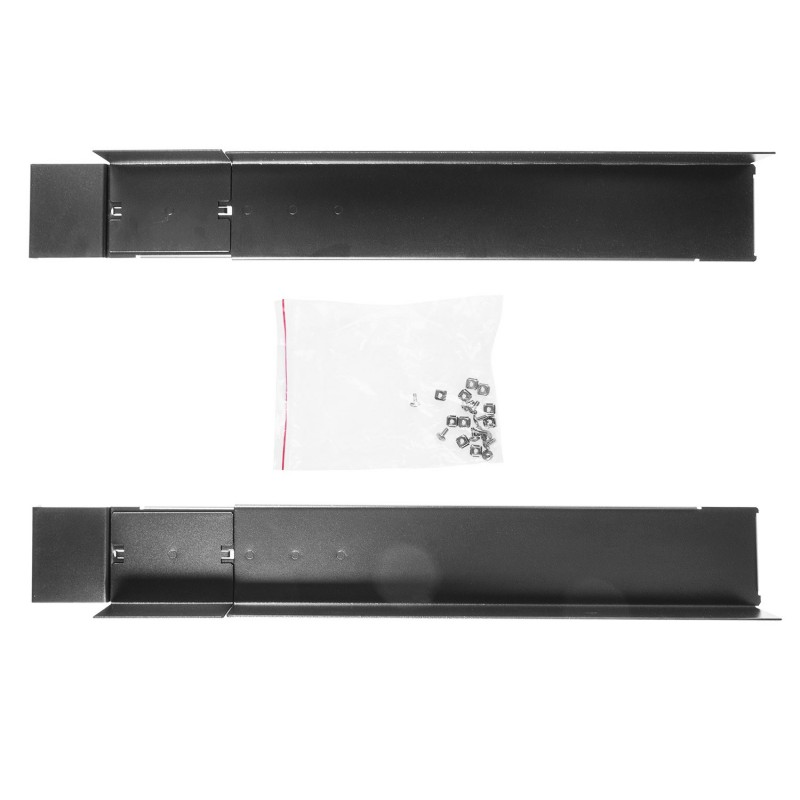 "Rack 19"" cabinet mounting rails, adjustable length 600mm-800mm, set of 2 pieces"