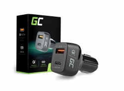 Car charger USB-C Power Delivery + USB Quick Charge 3.0 Green Cell