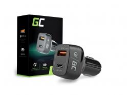 Green Cell Ładowarka Samochodowa USB-C Power Delivery PD i USB Quick Charge 3.0