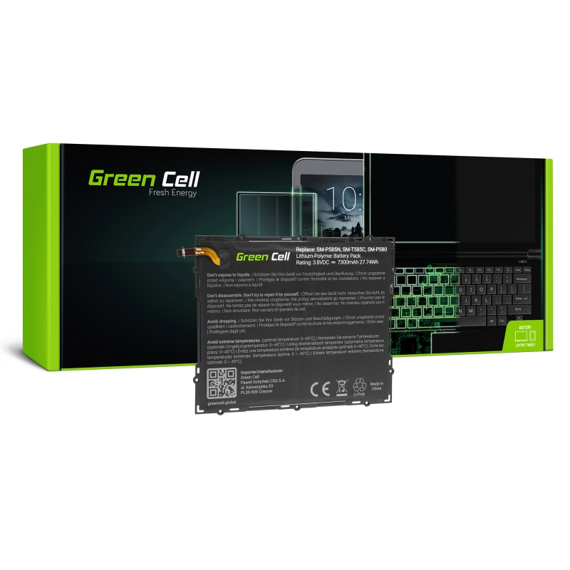 Green Cell ® Battery EB-BT585ABA for Samsung Galaxy Tab A 10.1 T580 T585