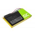 Battery 361-00019-12 Green Cell for GPS Garmin Edge 605 705 Nuvi 200 285WT 710 1300 1350T, 1250mAh