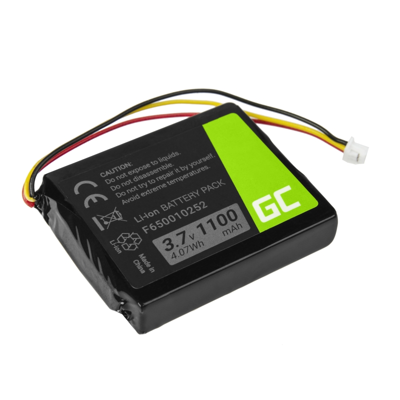 Bateria Green Cell® F650010252 do GPS TomTom One V1 V2 V3 XL Europe Regional Rider