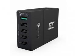 Ładowarka sieciowa Green Cell 5xUSB 52W z szybkim ładowaniem Quick Charge 3.0