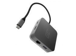 Docking Station, Adapter, HUB USB-C HDMI Green Cell - 6 ports for MacBook Pro, Dell XPS, Lenovo X1 Carbon and others