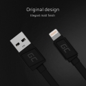 Cable GCmatte Lightning Flat 25 cm with Apple 2.4A quick charge support