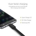 Kabel Przewód GCmatte Micro USB Płaski 25 cm z obsługą szybkiego ładowania