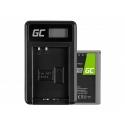 Green Cell ® Battery BLN-1/BCN-1 and Charger BCN-1 for Olympus PEN-F, OM-D EM1, EM5, OM-D E-M5 Mark II