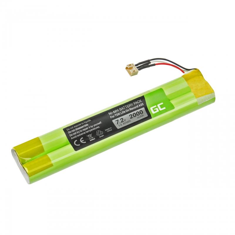 Green Cell ® Battery EU-BT00003000-B for TDK Life On Record A33 A34 TREK Max speaker