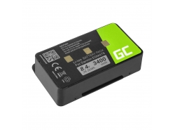 Bateria 010-10517-00 Green Cell do GPS Garmin EGM478  GPSMAP 276 296 376 376c 396 495 496, 3400mAh
