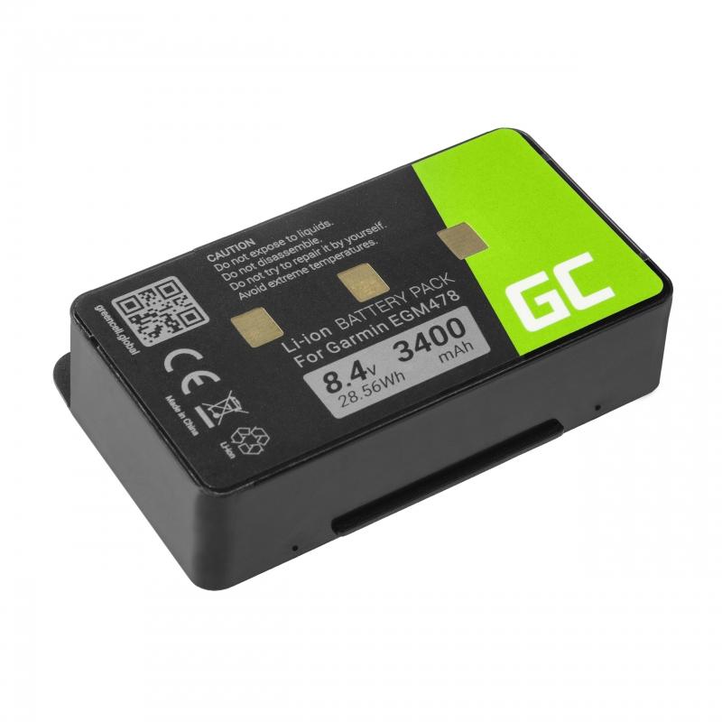 Bateria Green Cell® 010-10517-00 011-00955-00 do GPS Garmin GPSMAP 276 296 376 376c 396 495 496