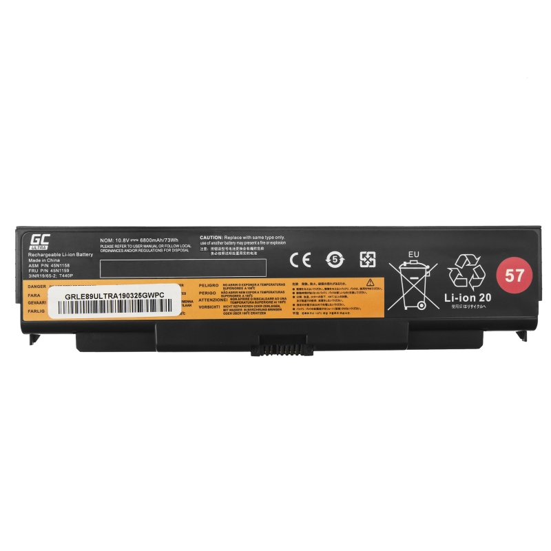 ef6e6c1cce3 ... Green Cell ® Laptop Battery 45N1158 for Lenovo ThinkPad T440P T540P  W540 W541 L440 L540 ...