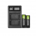 Green Cell ® 2x Battery NP-500 and Charger BC-V615 for Sony A58, A57, A65, A77, A99, A900, A700, A580