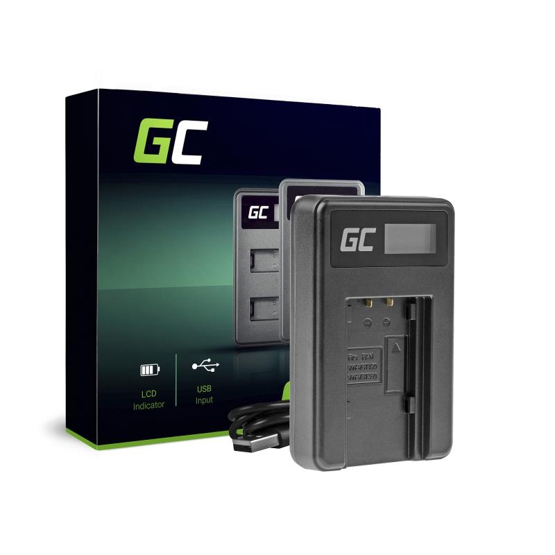 Camera battery charger VW-BC10 Green Cell for Panasonic VW‑VBT190 HC-250 HC-V130 HC-V510 HC-V770 HC-W580 HC-WX970