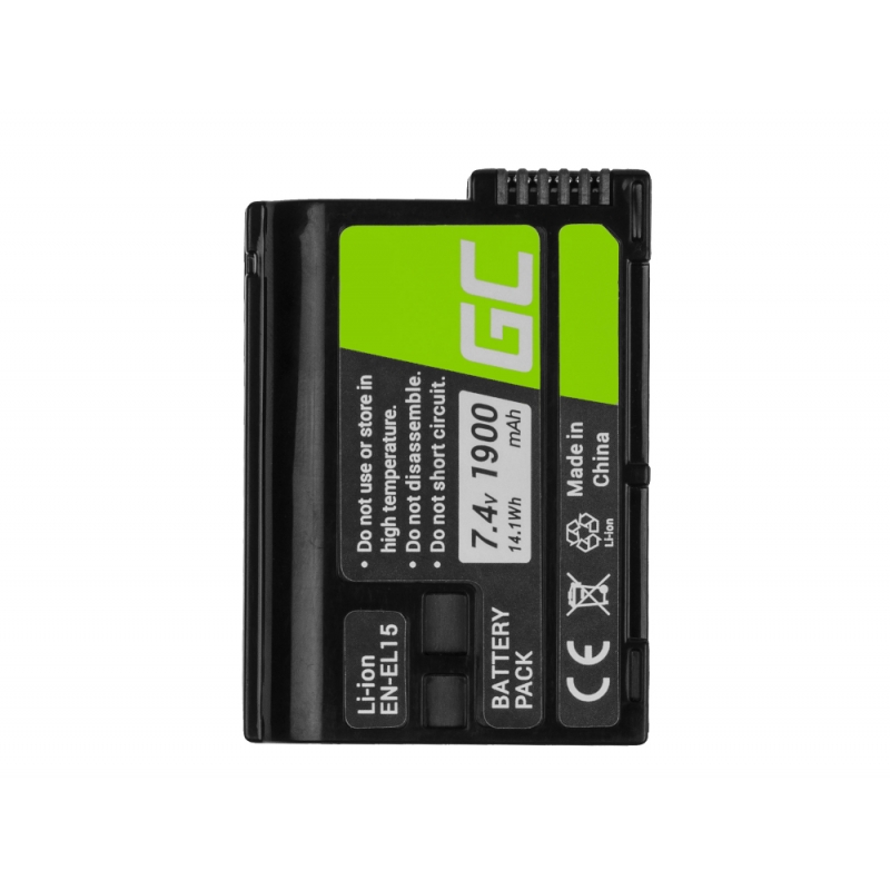 Green Cell ® Battery EN-EL15 and Charger MH-25 for Nikon
