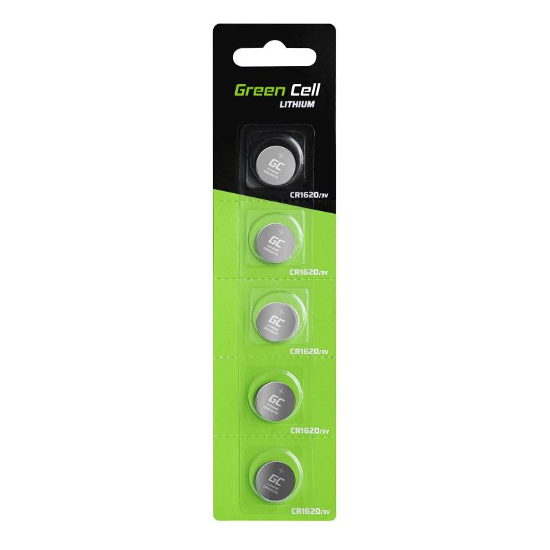 Green Cell CR1620 Batterie Lithiumbatterie 3V 70mAh
