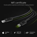 Kabel Green Cell Stream USB-C - Lightning 100cm mit Power-Delivery-Unterstützung (Apple MFi Certified)