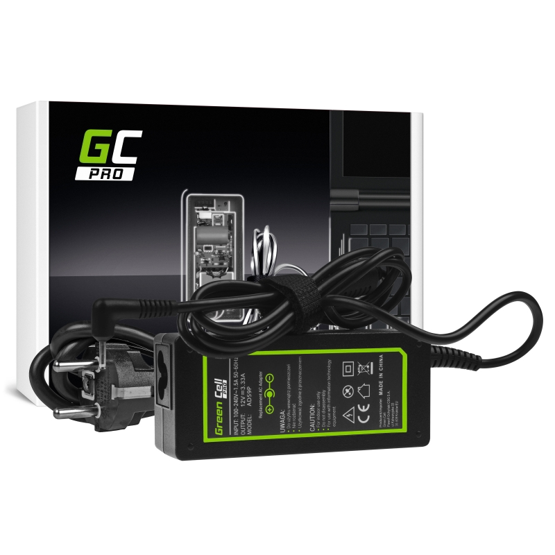 Charger / AC Adapter Green Cell PRO 12V 3.33A 40W forSamsung 303C XE303C12 500C XE500C13 500T XE500T1C 700T XE700T1C