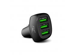 Green Cell GC PowerRide 54W 3xUSB 18W Autoladegerät mit Ultra Charge-Schnellladetechnologie