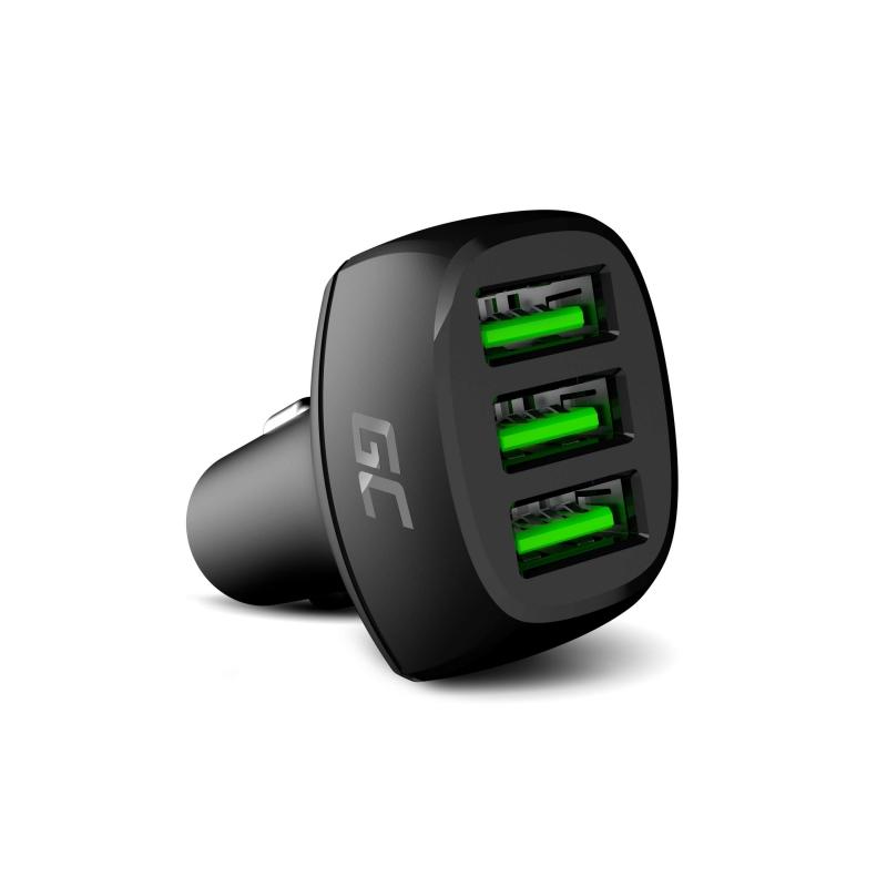 Ładowarka Samochodowa Green Cell GC PowerRide 54W 3xUSB 18W z technologią szybkiego ładowania Ultra Charge