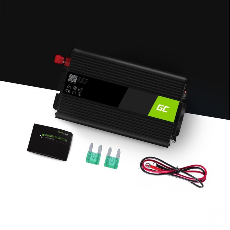 Green Cell/® 300W//600W 12V 220V//230V Convertisseur de Tension Voiture Solaire Modifi/ée Volts Sinus Power Inverter sinuso/ïdale DC AC Onduleur Transformateur avec Allume Cigare Prise Electrique