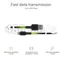 Kabel Przewód Green Cell GC PowerStream USB-A - Lightning 200 cm Apple MFi Certified