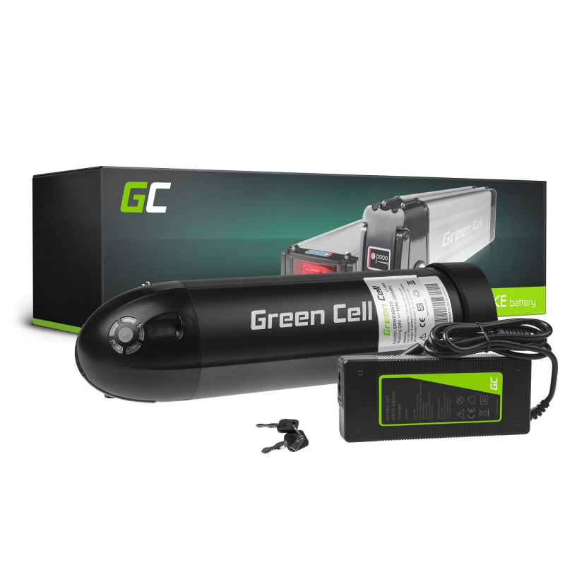 Accumulator Battery Green Cell Bottle 24V 11.6Ah 278Wh for Electric Bike E-Bike Pedelec