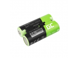Battery 010-11874-00 Green Cell for GPS Garmin Astro 430 900 GPSMAP 62s 66st PRO Oregon 600t 650 750t PRO, 2000mAh