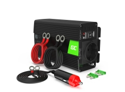 Green Cell® Car Power Inverter Converter 12V to 230V 300W/600W Pure sine