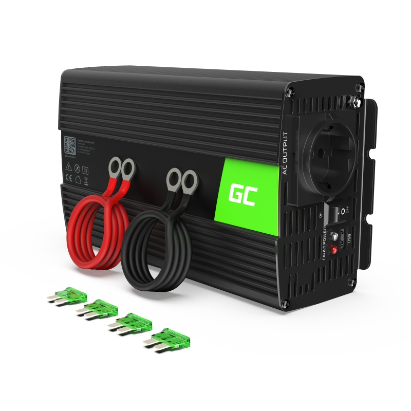 Car Power Inverter Green Cell® 24V to 230V, 1000W/2000W