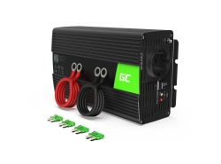 Green Cell® Car Power Inverter Converter 12V to 230V 1000W/2000W Pure sine