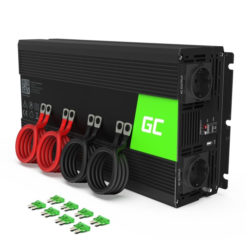 Car Power Inverter Green Cell® 24V to 230V, 2000W/4000W