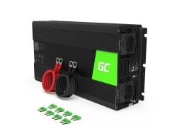 Green Cell® Car Power Inverter Converter 24V to 230V 1500W/3000W Pure sine