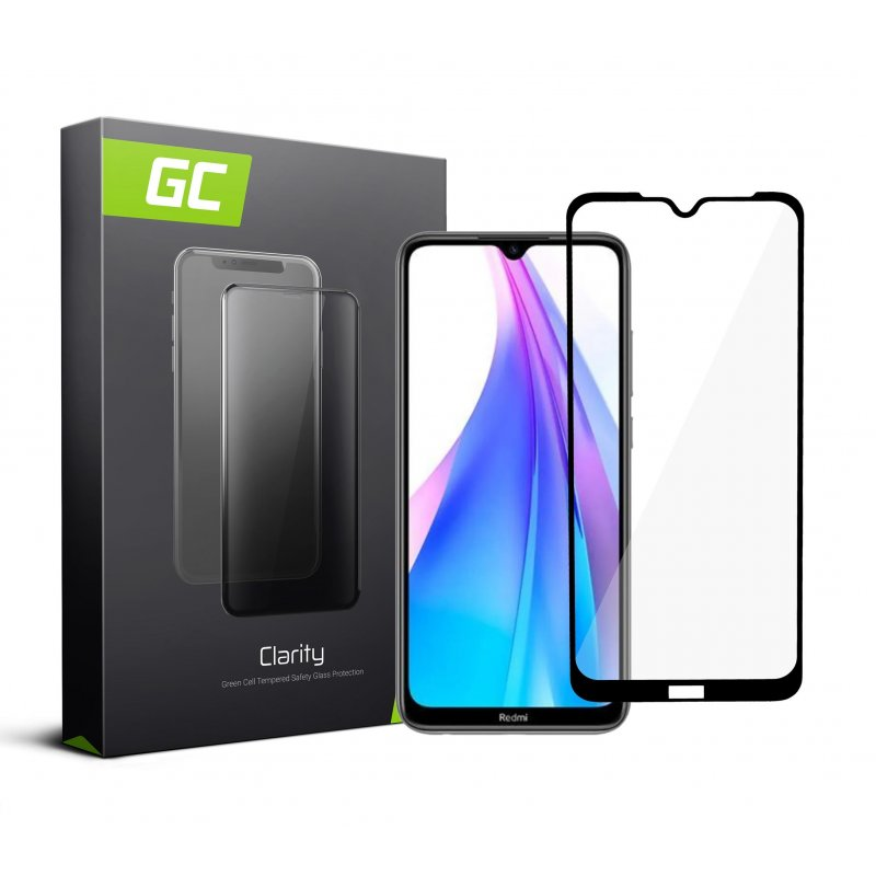 Screen Protector for Xiaomi Redmi Note 8T Tempered Glass GC Clarity 9H Military Grade Invisible Cover