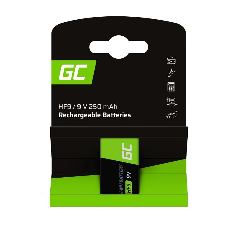 Batterie Akku 1x 9V HF9 Ni-MH 8000mAh Green Cell
