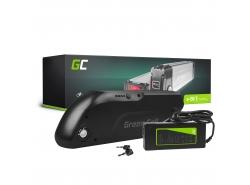 Green Cell® E-Bike Akku 36V 13Ah Li-Ion Elektrofahrrad Down Tube Batterie mit Ladegerät