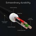 Set 3x Green Cell GC Ray Lightning-Kabel 120 cm mit weiß LED-Hintergrundbeleuchtung, Schnellladung Apple 2.4A