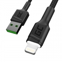 Set 3x Green Cell GC Ray Lightning 200cm Cable with white LED backlight, fast charging Apple 2.4A