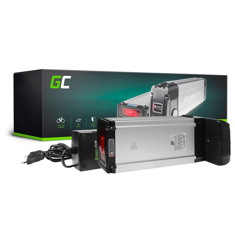 Green Cell® E-Bike Akku 36V 21Ah Li-Ion Samsung Zellen Pedelec Rear Rack Batterie mit Ladegerät
