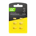 Blister - 6 pcs Green Cell Hearing Aid Batteries  Typ P10 PR70 ZL4 Zinc Zinc-Air for hearing aids and otoplastics