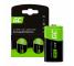 Batterie Akku 2x C R14 HR14 Ni-MH 1.2 V 4000 mAh Green Cell